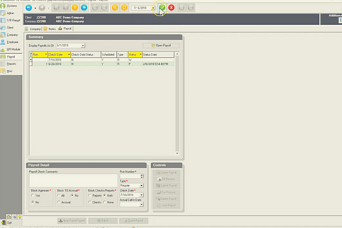 Creating a New Payroll and Batch in Evolution Classic