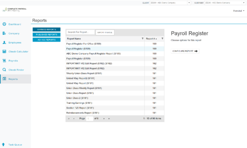 Running Reports in Evolution Payroll