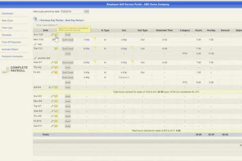 Employee Self-Service Basic Navigation in TimeWorks Plus