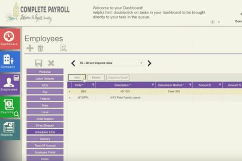 Setting Up Direct Deposit in Evolution Payroll